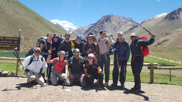 Aconcagua Team at the park gate, back in 2015.