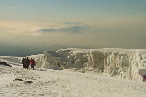 Snows of Kilimanjaro: Team members are guided to the top of Africa by Felix Berg.