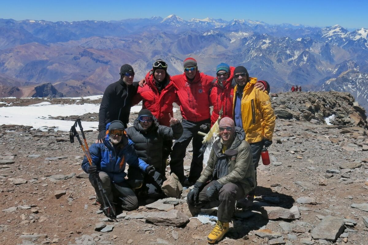 Team on the summit of Aconcagua