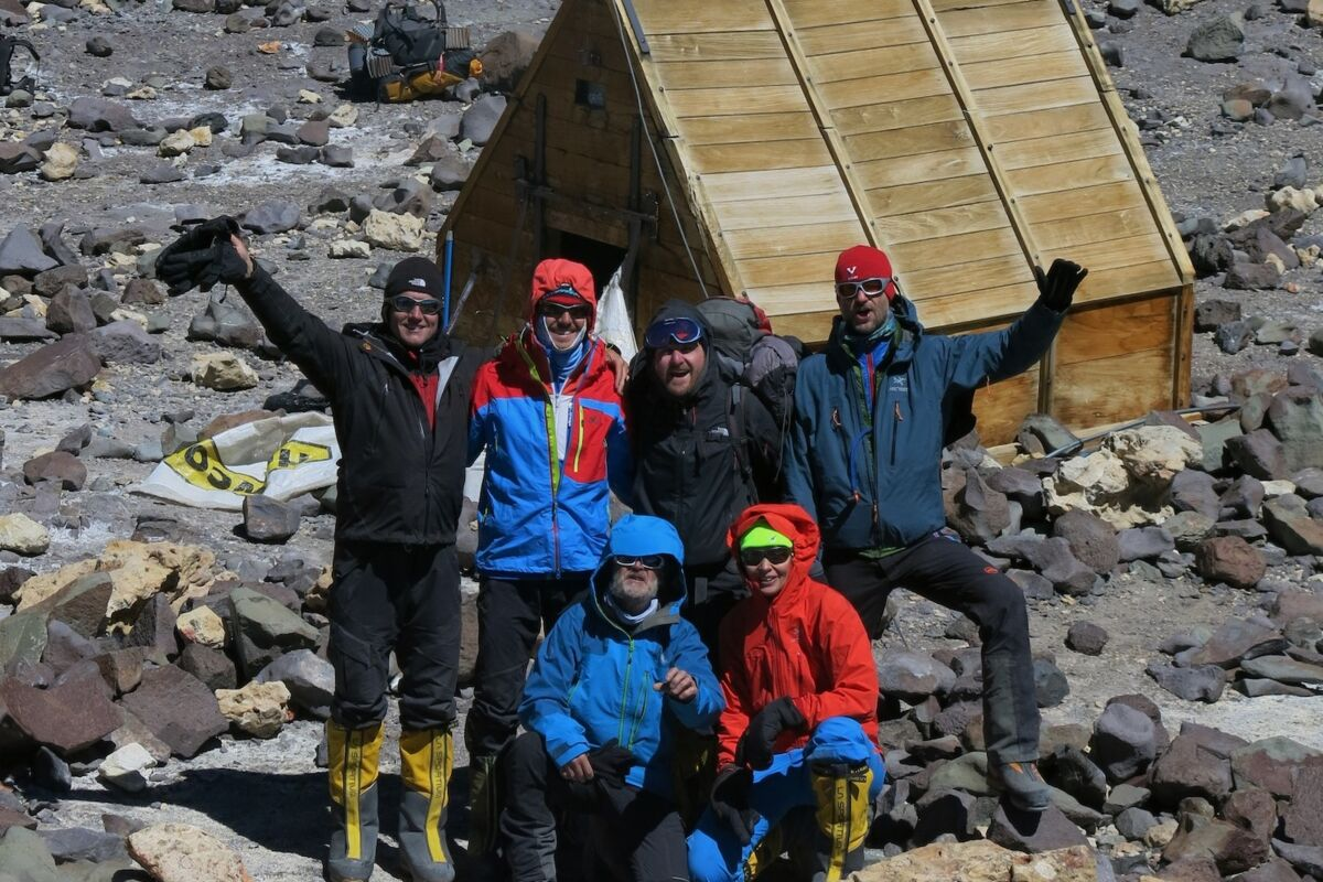 SummitClimb Team im Camp Berlin am Aconcagua