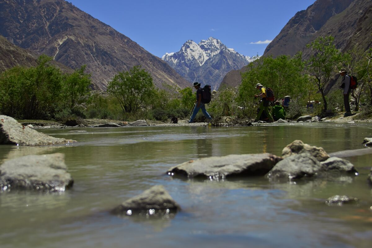 View of the Karakoram Peaks from Korophon Camp, Pakistan