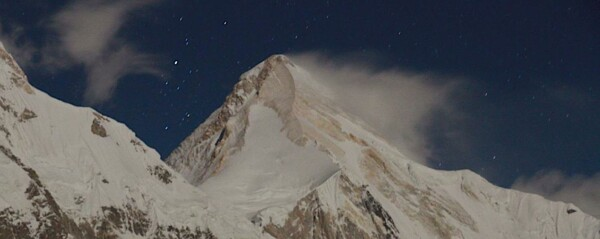Khan Tengri in der Nacht: Blick vom Base Camp (SummitClimb Tien Shan)