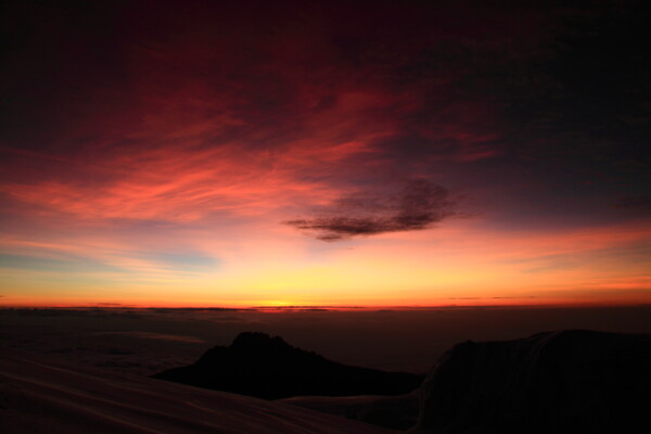 On the top of Africa: sunrise
