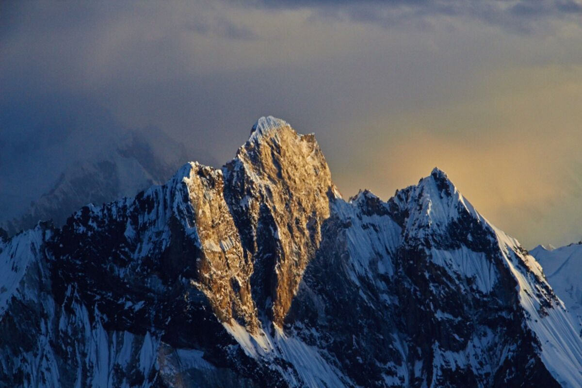 Blick vom 2. Lager am Broad Peak auf Marble Peak (6256m) | © Broad Peak Expedition 2014 (c) Felix Berg