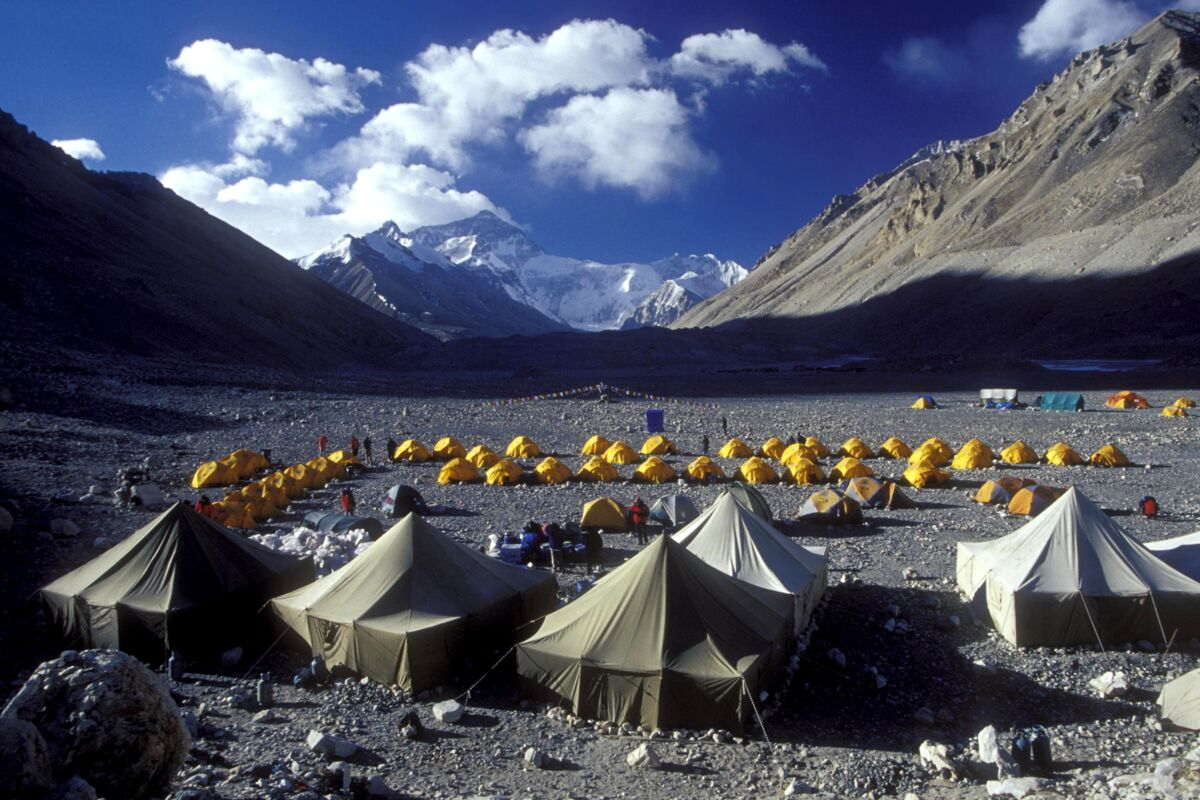 Everest Besteigung Tibet - Basislager der 2004 Expedition