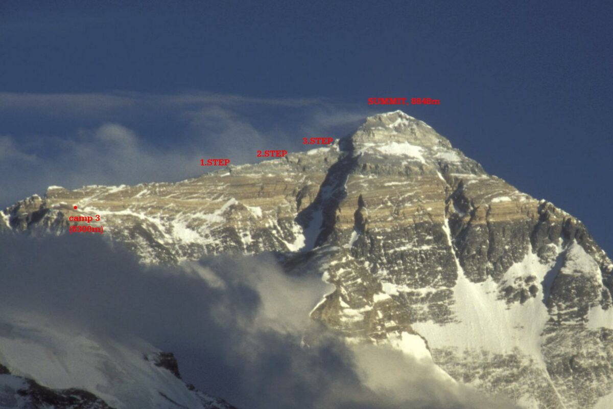 Route der Everest Besteigung Tibet | © Mount Everest Expedition 2004 (c) Felix Berg