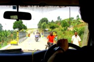Bridge into Congo, drive to Rwenzori