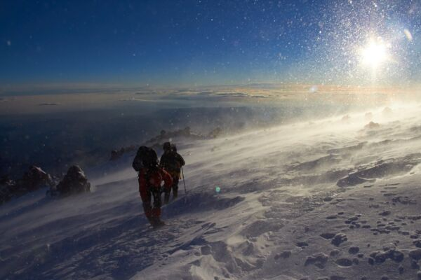 Elbrus Climb - North - South - traverse